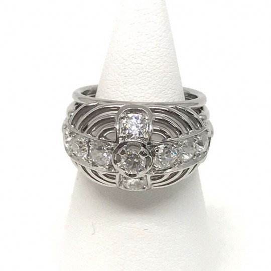 Bague Or Blanc 18 Carats et Diamants