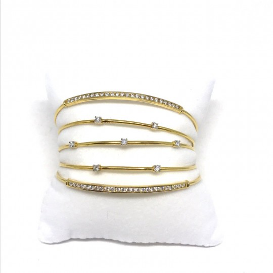 Braceleet en Or Jaune 18 Carats et Diamants