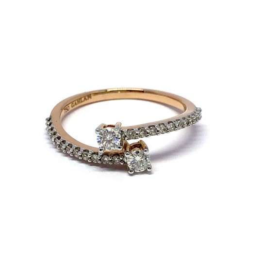 Bague Or Rose, Diamants, Gahlan